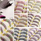 10Pairs Colorful Eye Lashes Makeup Extention Fancy Party Natural False Eyelashes