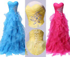 Formal Beach Wedding Dress Bridesmaid gown Party Cocktail Ball Evening Dress AU