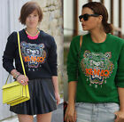 New Arrival!!Women 'sLadies Casual Tiger Print Long Sleeve Crew Neck Hoodies Tee