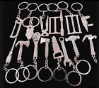 1X Silver Tone Drill/Spanner/Saw/Axe/hammer Tools Key Chains Key Rings Gifts New