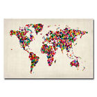 Michael Tompsett 'Butterflies World Map' Canvas Art