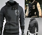 3 Styles Mens Jumper Sweatshirt Jacket Coat Baseball Sweater Hoodie HOODY S~XL