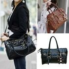 Vintage Women Leather Style Handbag Shoulder Messenger Bag Shoppers Tote Satchel