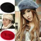 Fashion Ladies Womans Ladie Rabbit Fur Warm French Style Beret Cap Hat New