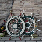 "23.5"" Wood Ship Wheel Home Wall Nautical Decor Beach House Accent Sign SZ35"