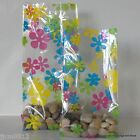 10 Flower Power Patterned Cellophane Gift Bags *Choose Size* Easter Cello Bags