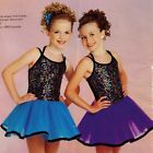 NWT Dance Pageant Costume Sequin front Organdy skirt 3 Colors Ch Szs Girls szs