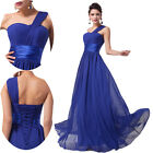 NEW One Shoulder Evening/Formal/Bridesmaid/Ball gown/Party/Prom Long Dress Stock