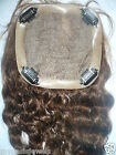 Silk Top Full Lace Closure Human Indian Remy Hair Partial Wig Color 4 Wavy