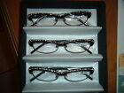 2 pair Lady Crystal Reading Glasses select your reader power front crystal side