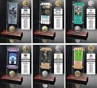 Choose Super Bowl Champion Game Ticket & Minted Coin Acrylic Desktop Collection