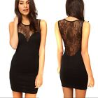 New Fashion Lady's Sexy Lace Sheer Backless Bodycon Dress Vest Skirt 3 Size