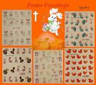 EASTER  Water Decal Nail Art Transfers Stickers  Eggs Chicks Rabbit Bunny - #3