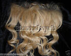 Indian Human Hair Remi Remy Full Lace Frontal Wig  #24 Blonde Body Wave Wavy