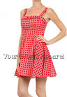 IXIA DARLING RED WHITE CIRCLES DRESS PIN UP BEACH SUNDRESS STYLE VINTAGE RETRO