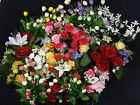 ARTIFICIAL BEAUTIFUL COLOUR BUNCHES-BUSHES-STEMS OF FLOWERS NEW BIG RANGE