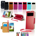 For SAMSUNG GALAXY S4 SIV i9500 New FLIP PU Leather Wallet Case Cover Smart Wake