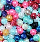 glass pearl beads, 6 mm (>150 pcs) & 8 mm (>100 pcs) option for colours*