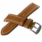 Chunky Genuine Leather Watch Strap Old Style Leather Choice of Colour and Size