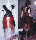Dolly Visual Nana CYBER PUNK GOTHIC SEXY One Shoulder Dress COVER Black/RED S~L