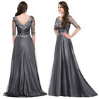 Stock Long Chiffon Ball Gown Evening Prom Bridesmaid Wedding Party Pageant Dress