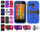 For Motorola Moto G Rubber KICK STAND Rubber Case Phone Cover Accessory