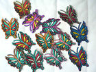 butterfly iron on Motif embridered sew on patches VARIOUS crafts kids clothing