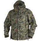 HELIKON TACTICAL WARM DOUBLE FLEECE HOODED MENS HUNTING JACKET PL WOODLAND CAMO