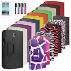 """Folio PU Leather Case Cover Stand For Samsung Galaxy Tab 3 7.0"""" 7"""" Tablet P3200"""