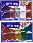 GLITTER PACKS CONTAINS 10 PACKS 5 COLORS YOUR CHOICE ART CRAFT HORIZON GROUP