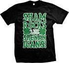 Shamrocks And Shenanigans Four Leaf Clover Funny St. Patrick's Day -Mens T-shirt