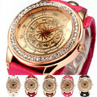 Rose Gold Crystal Ladies Women Constellations Pattern 5 Color Quartz Wrist Watch