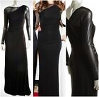 DAVID MEISTER $628 Black Illusion Sheer Long Sleeve Gown Sz 4 NEW