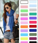 Free Women Girl Soft Candy Color Crinkle Soft Scarf Wrap Shawl Scarves 24 Colour