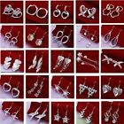 HOT!2014 Special Price wholesale fashion beautiful Ladies 925silver Earrings+box