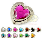 HEART SHAPE Folding HandBag Purse Hook Hanger Holder(13 different colors)SNA027t