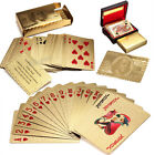 Golden Foil Plated 24K Gift Playing Cards Game Poker Deck Collection w/ Box New