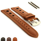 Rally Racing Style Genuine Leather Watch Strap Band 18 20 22 Monte Carlo MM