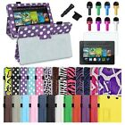 4in1 PU Leather Case Cover+Matte SPT/Cap For Amazon Kindle Fire HD 7 2nd Gen