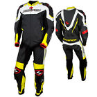 Scorpion Sports Podium 1 Piece Leather Motorcycle Race Suit Black / White / Yell