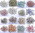 100Pcs Quality Crystal Rhinestone Silver Rondelle Spacer Beads Jewelry Findings image