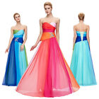 Colorful Slim 30 D Chiffon Formal Party Bridal Wedding Evening Maxi Long Dress