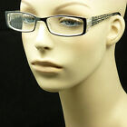 Bifocal reading glasses clear lens men women spring hinge fashion power LP53