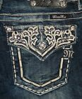"MISS ME JEANS ""FLORAL VINE FLAP POCKET"" BOOT CUT JW5917B2"