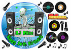 EDIBLE ICING DJ MC OLD SCHOOL MUSIC DANCE RAVE CLUBBING BIRTHDAY CUP CAKE TOPPER