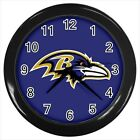 Baltimore Ravens Football - Wall Clock (Choose from 7 Colors) - HH5106