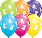 "Qualatex Cuddly Teddy Bears 11"" Helium Quality Bright Colour Party Balloons"