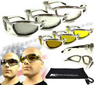Chrome Motorcycle Transition Sunglasses with Light Adjusting Photochromic lenses