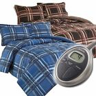 Sunbeam Premium Electric Heated Warming Comforter Set w Pillow Sham