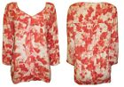 NEW LADIES MARKS & SPENCER PINK FLORAL PATTERN TUNIC TOP SIZE 10 - 16 BNWOT